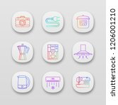 household appliance app icons...