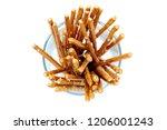 biscuit sticks pretzel sticks... | Shutterstock . vector #1206001243