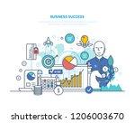business success concept.... | Shutterstock . vector #1206003670