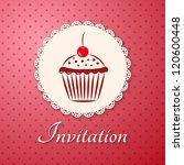 invitation applique card  ... | Shutterstock .eps vector #120600448