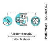 account security concept icon.... | Shutterstock .eps vector #1206005563