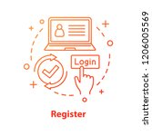 registration concept icon.... | Shutterstock .eps vector #1206005569