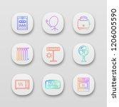 household appliance app icons... | Shutterstock .eps vector #1206005590