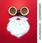 top view of creative santa... | Shutterstock . vector #1206005683