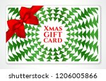 holiday gift card with abstract ... | Shutterstock .eps vector #1206005866