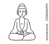 simple and minimal buddha... | Shutterstock .eps vector #1206006493