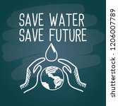 save water save future with... | Shutterstock .eps vector #1206007789