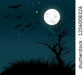moonlight forest background.... | Shutterstock .eps vector #1206008326