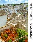 town of alberobello  village... | Shutterstock . vector #1206010156