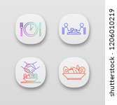 business lunch app icons set....