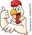 happy cartoon chicken. vector...