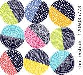 Decorative Abstract Polka Dots...