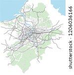 taipei  taiwan streets  roads ... | Shutterstock .eps vector #1206036166