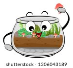 illustration of a fish bowl... | Shutterstock .eps vector #1206043189