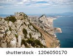 Gibraltar, United Kingdom, 1st October 2018:- Lord Airey's Battery at the summit of the Rock of Gibraltar. Gibraltar is a British Overseas Territory located on the southern tip of Spain. - stock photo