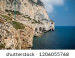 Gibraltar, United Kingdom, 2nd October 2018:- The east coast of Gibraltar, looking north. Gibraltar is a British Overseas Territory located on the southern tip of Spain - stock photo