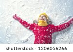 happy child girl playing on a... | Shutterstock . vector #1206056266