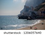 Gibraltar, United Kingdom, 2nd October 2018:- The Caleta Hotel in Catalan Bay, Gibraltar. Gibraltar is a British Overseas Territory located on the southern tip of Spain. - stock photo