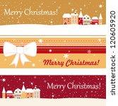 set of three banner for... | Shutterstock .eps vector #120605920