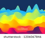 abstract wavy background with... | Shutterstock .eps vector #1206067846