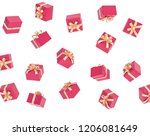 gifts flying isolated 3d... | Shutterstock . vector #1206081649