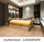 3d rendering luxury modern...   Shutterstock . vector #1206085690