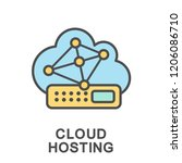 icon cloud hosting. a network... | Shutterstock .eps vector #1206086710