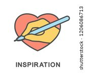 icon inspiration. emotional... | Shutterstock .eps vector #1206086713