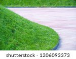 urban photography  a lawn is an ... | Shutterstock . vector #1206093373