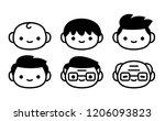 vector cartoon set of icons of...   Shutterstock .eps vector #1206093823