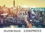 apply today with the new york... | Shutterstock . vector #1206098353