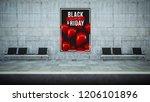 billboard poster on underground ... | Shutterstock . vector #1206101896