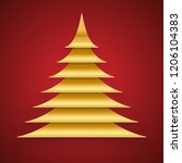 abstract gold paper cut... | Shutterstock .eps vector #1206104383