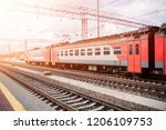 beautiful railway station with... | Shutterstock . vector #1206109753