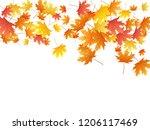maple leaves vector background  ... | Shutterstock .eps vector #1206117469