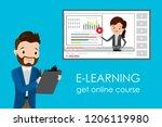 online education course e... | Shutterstock .eps vector #1206119980