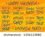 big collection of halloween... | Shutterstock .eps vector #1206123880