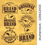 Stock vector vintage label set 120612433