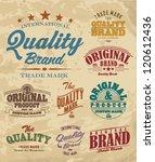 vector set vintage labels | Shutterstock .eps vector #120612436