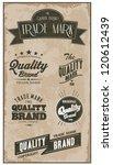 vintage label set | Shutterstock .eps vector #120612439
