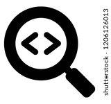 html code in magnifying glass...   Shutterstock .eps vector #1206126013