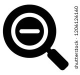 magnifying glass with zoom out ...
