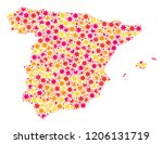 mosaic map of spain composed... | Shutterstock .eps vector #1206131719