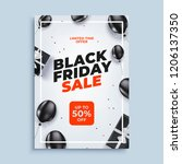 black friday sale vector banner ... | Shutterstock .eps vector #1206137350