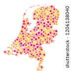 mosaic map of netherlands... | Shutterstock .eps vector #1206138040