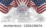 veterans day. honoring all who... | Shutterstock .eps vector #1206138676