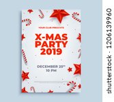 merry christmas party layout... | Shutterstock .eps vector #1206139960