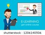 online education course e... | Shutterstock .eps vector #1206140506