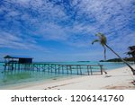 the mantanani islands form a... | Shutterstock . vector #1206141760