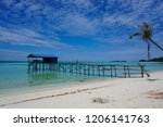 the mantanani islands form a... | Shutterstock . vector #1206141763